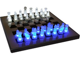 LED BlueWhite Glow Chess Set