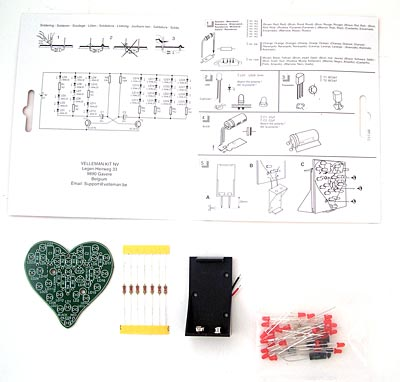 LED Flashing Sweetheart DIY Kit