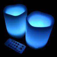 LED Rainbow Candles With Remote Control
