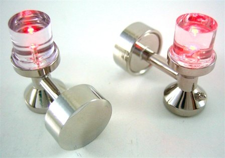 LED Red Light Cufflinks
