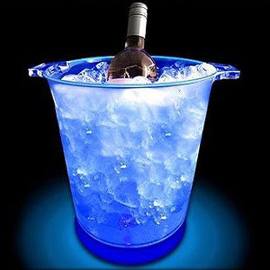 led sound sensitive ice bucket. Black Bedroom Furniture Sets. Home Design Ideas