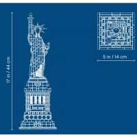 LEGO Architecture Statue of Liberty Schematic