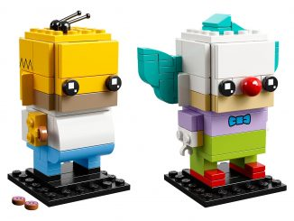 LEGO BrickHeadz Homer Simpson & Krusty the Clown