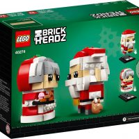 LEGO BrickHeadz Mr. & Mrs. Claus #40274 Box Back