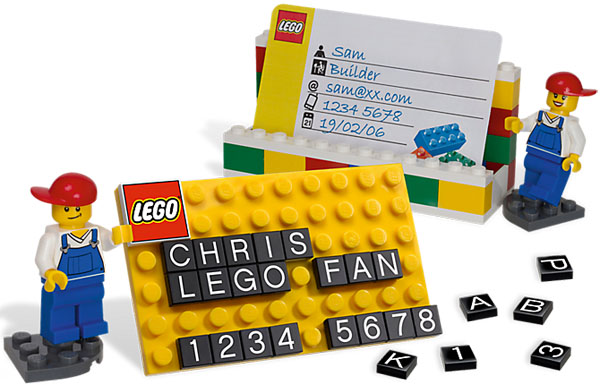 LEGO Business Card Holder set