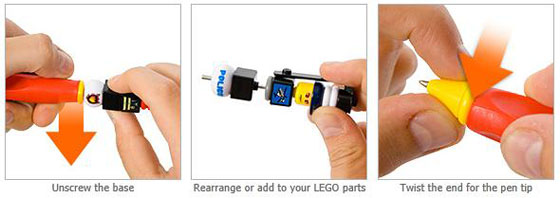 LEGO Interchangeable City Pens