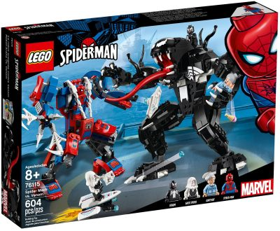 LEGO Marvel Spider Mech vs Venom Box