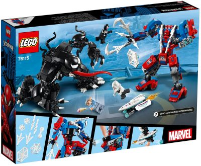 LEGO Marvel Spider Mech vs Venom Box Back