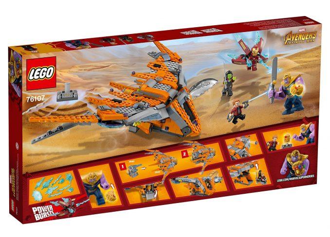 Lego Marvel Comics Thanos Ultimate Battle 76107