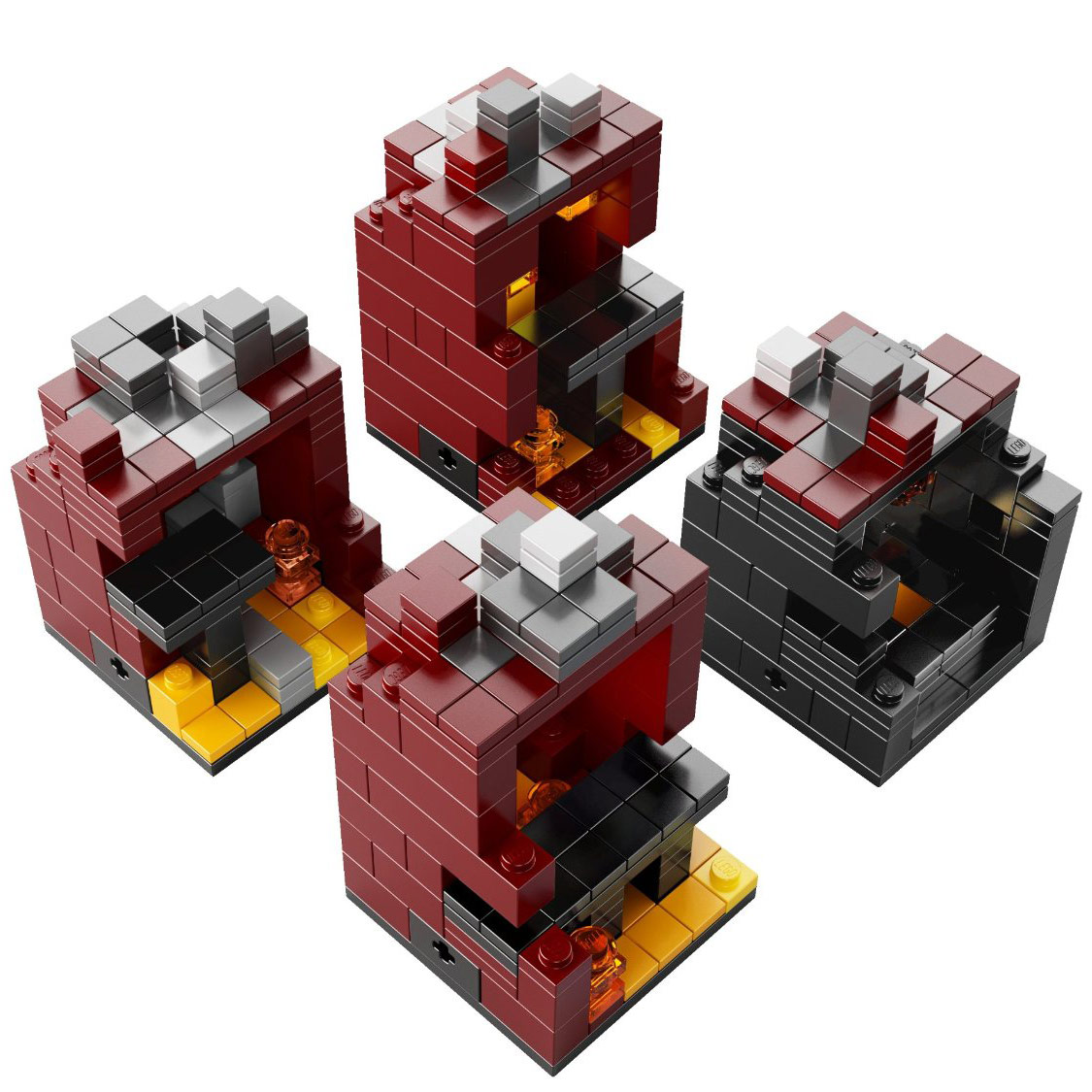Lego minecraft the nether 21106 for Lego world craft