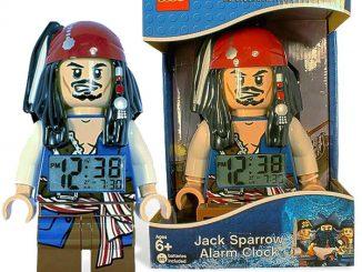LEGO Pirates of the Caribbean Jack Sparrow Minifigure Clock