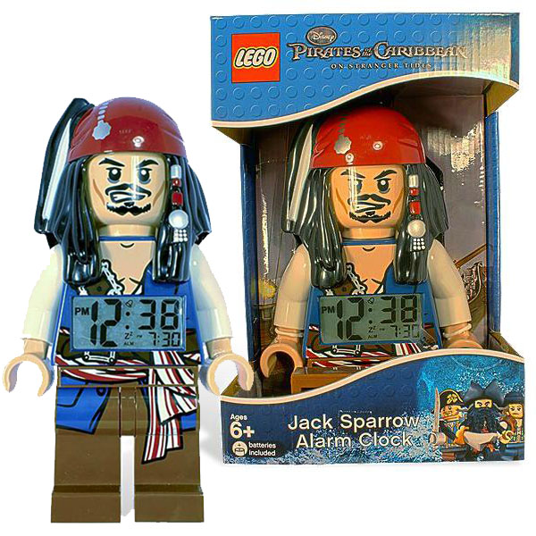 LEGO Pirates of the Caribbean Jack Sparrow Minifigure Clock