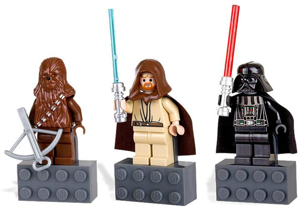 LEGO Star Wars Magnet Set: Chewbacca, Vader and Obi-Wan