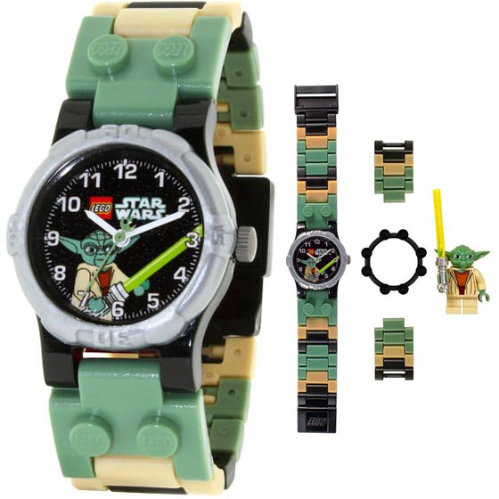 LEGO Star Wars Watch with Mini Figure Yoda with Interchangeable Parts