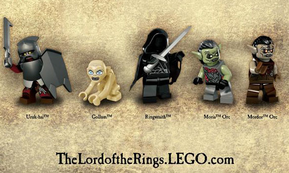 LOTR LEGO minifigures