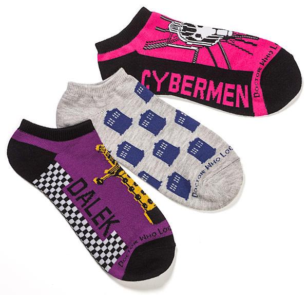 Ladies Doctor Who Low Cut Socks