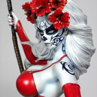 Lady Death La Muerta 12-Inch Statue Face