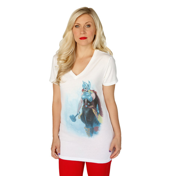 Lady Thor V-Neck T-Shirt