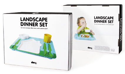 Landscape Dinner Tray Set