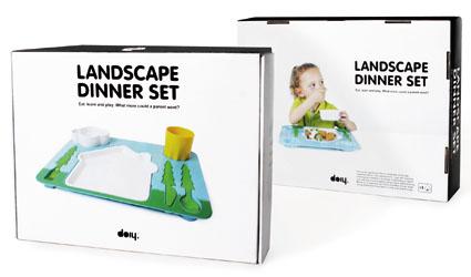 Landscape Dinner Tray Set