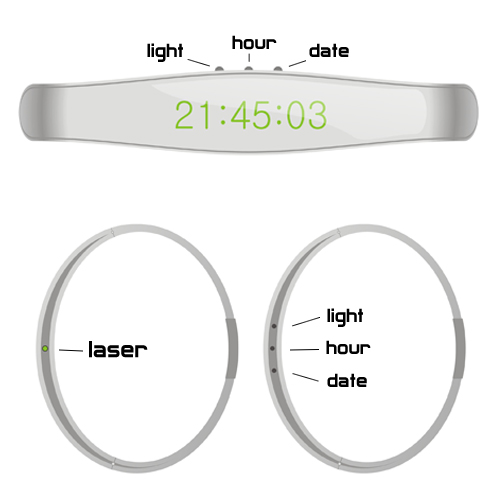 Laser Light Watch