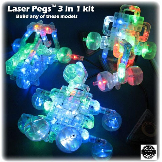 Laser Pegs 3 in 1 Build Kit