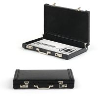 Leather Mini Briefcase Business Card Holder