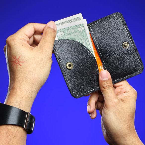 Leather Steampunk Bi-Fold Wallet