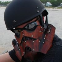 Leather Steampunk Trooper Motorcycle Mask