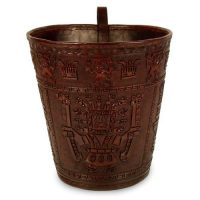 Leather Waste Basket