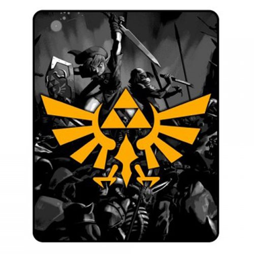 Legend of Zelda Crest Throw Blanket