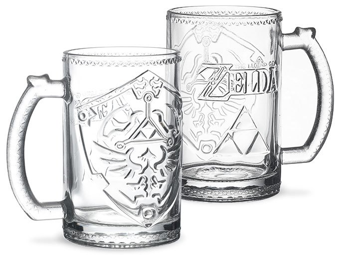 Legend of Zelda Hylian Shield Glass Tankard