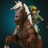 Legend of Zelda Link on Epona Statue