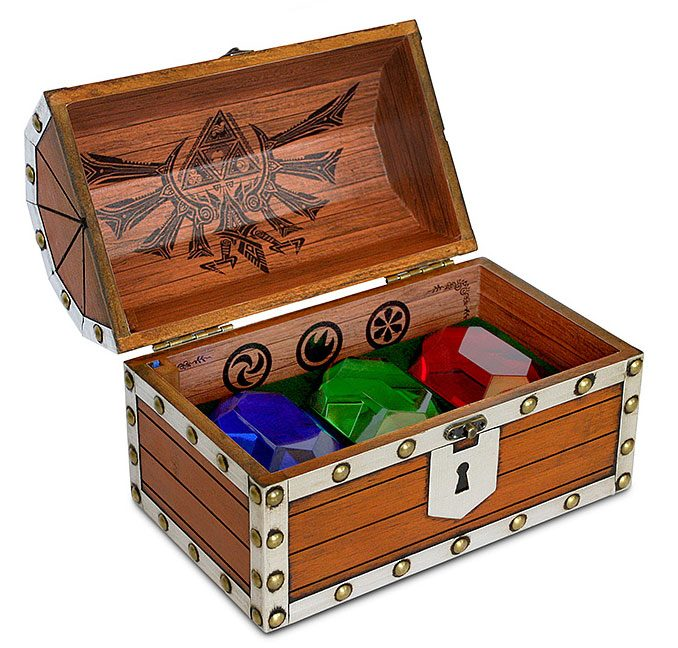 Legend of Zelda Rupee Chest Paperweight