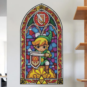 The Legend Of Zelda Stained Glass Wall Decals & Legend Of Zelda Stained Glass Wall Decal - Elitflat