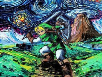 Legend of Zelda Starry Night Print