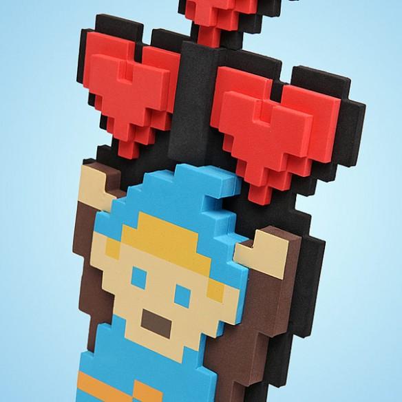 Legendary Hero 8-Bit Heart Bouquet