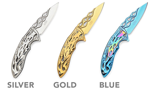Legends Of Fire Folding Knives