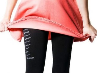 Leggings with Chastity Yardstick