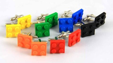 Lego Plate Cufflinks