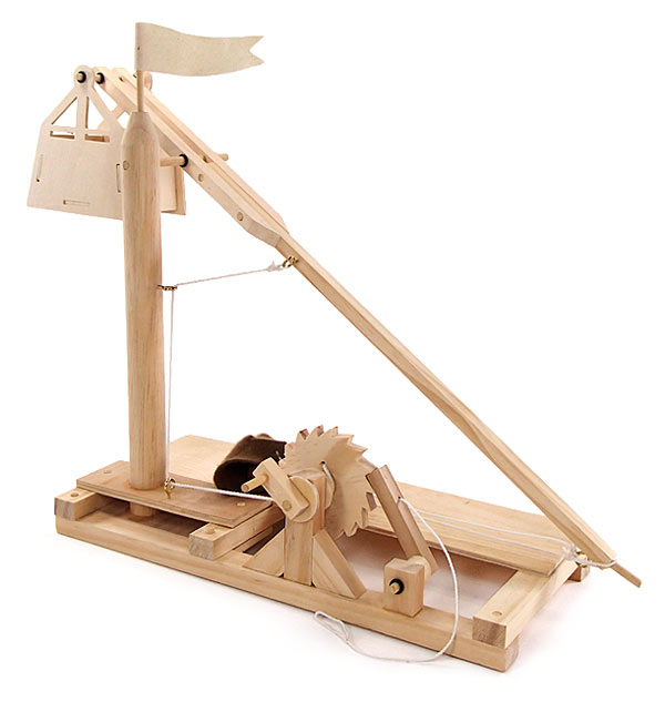 Leonardo Da Vinci Wooden Invention Kits Trebuchet