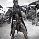Life SIzed Metal Hellboy Sculpture