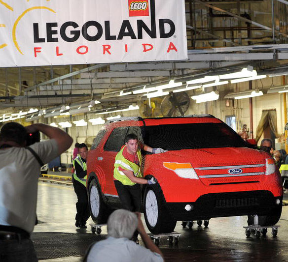 Life-Sized LEGO Ford Explorer