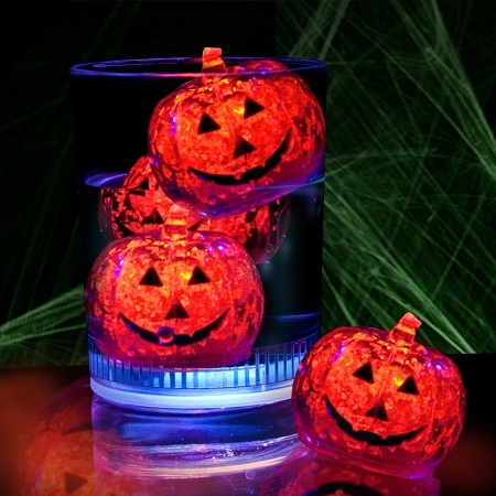 Light-Up! Pumpkin Ice Cubes
