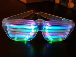 Light up LED Multicolor Rockstar Sunglasses