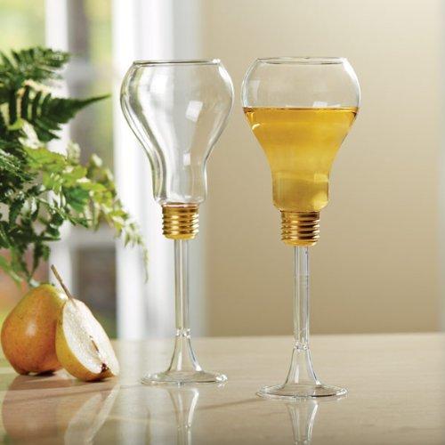 Lightbulb Wine Glasses
