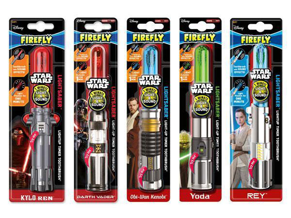 Star Wars Lightsaber Toothbrushes