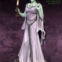 Lily Munster Maquette Side