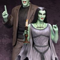 Lily Munster Maquette with Herman Munster Maquette