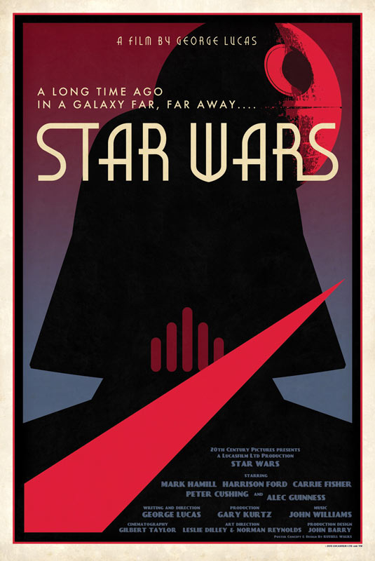 Limited Edition Designer Star Wars Movie Poster